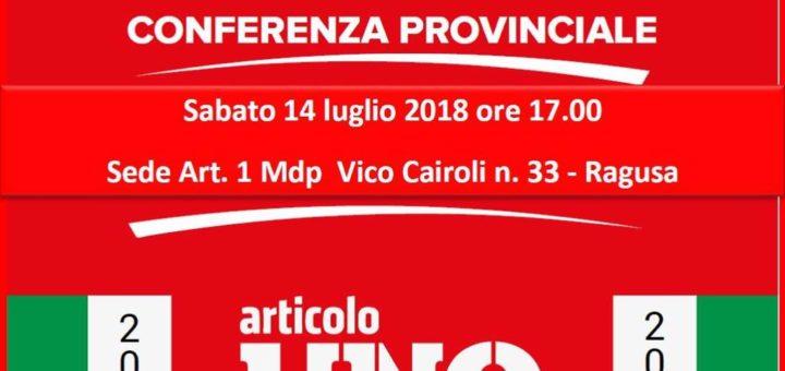 Conferenza provinciale 2018